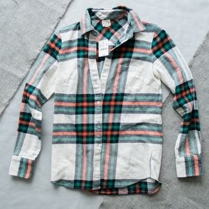 J. Crew The Perfect Shirt Multicolor Plaid XXS NWT